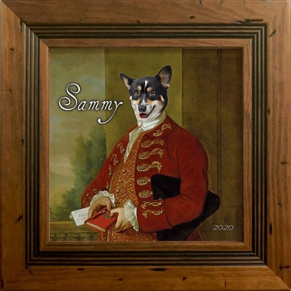 Our Picture Parcel personalized pet products make the most thoughtful gifts to pet owners everywhere. You can design online and add your own text. This is your pet portrait in a antique character real-wood frame.