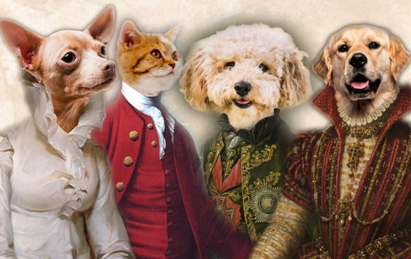 Pet portrait costumes and poses. The best selection of Pet Portraits on the planet.
