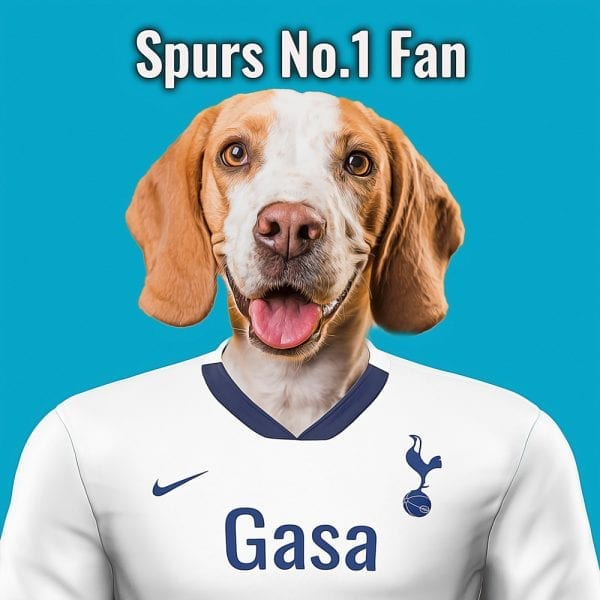 Spurs Pet Portrait. Great gift for soccer fan. Their pet portrait on A gloss ceramic. Comes all ready framed - so no need of extra expense. Picture Parcel Pet Portraits are handmade personalised gifts that look great in any home. These can be wall hung or table top display.