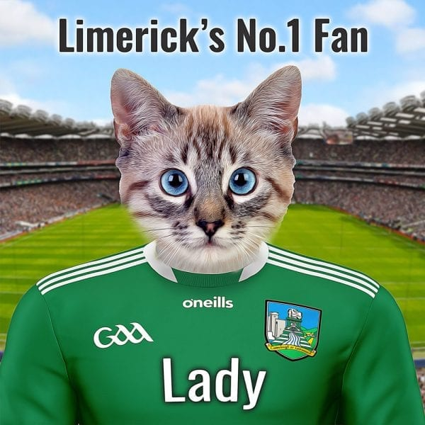 Limerick GAA fans will love this unique GAA gift. Their pet in an oil pant effect on gloss ceramic. This GAA comes already framed - ready for display - so no extra expense required. Dressed in Limericks county GAAA team colours - its a wonderful gift for any GAA fan and pet lover. You can personalise this GAA fans gift with your own text.