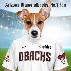 Arizona Diamondbacks The Diamondbacks baseball team- take there name from Diamondbacks, a type of desert rattlesnake. Picture Parcel are proud to make these pet portraits for Dimonedback fans. Your pet in the Arizona Diamondbacks team colours. Oil painting style on a piece of ceramic art. Framed in a real-wood frame. Fantastic gift for Arizona Diamondback fans.