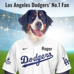 Los Angeles Dodgers The Los Angeles Dodgers baseball team take the Dodgers nickname from the pedestrians who dodged the trolleys that carried passengers through the streets of Brooklyn. Looking for an unusual gift for a Los Angeles Dodgers fan? Picture Parcel Pet portraits digitally paint your pet (dog, cat, any pet) in the Los Angeles Dodgers team colours. Oil painting style on a piece of ceramic art. Framed in a real-wood frame. Fantastic gift for all Los Angeles Dodgers fans and pet owners. You can design your pet portrait online and we look after the rest. This is a custom made Los Angeles Dodgers baseball fan gift suitable for any occasion, birthday, Christmas, new home etc...