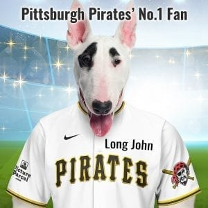 Pittsburgh Pirates The pirates get their name from a claim that a player was pirated away from the Philadelphia Athletics. Picture Parcel a have fantastic gifts for Pittsburgh Pirates fans. Personalised gifts for Pittsburgh Pirates fans and pet owners. You can design your pet portrait online and we look after the rest. This is a custom made baseball Pittsburgh Pirates fan gift suitable for any occasion. Handmade in Ireland - our personalised pet portraits are delivered worldwide. Pittsburgh Pirates fans that are also pet owners will love this personalised, fun and thoughtful gift.