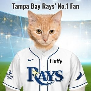 Tampa Bay Rays In 1995 the Tampa Bay team were nicknamed the Devil Rays, a name that didn't go down well with all fans - many protesting against the name devil. In 2007 they dropped the Devil from the name and are now the Tampa Bay Rays. Looking for an unusual gift for a Seattle Mariners fan? Picture Parcel Pet portraits digitally paint your pet in the Tampa Bay Rays team colours. Oil painting style on a piece of ceramic art. Framed in a real-wood frame. Fantastic gift for all Tampa Bay Rays fans and pet owners. You can design your pet portrait online and we look after the rest. This is a custom made baseball Tampa Bay Rays fan gift suitable for any occasions.