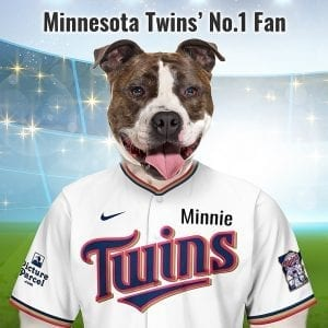 Minnesota Twins The Minnesota Twins baseball teal take their nickname from the cities Minneapolis and St. Paul, which are separated by the Mississippi River and collectively known as the Twin Cities. Looking for an unusual gift for a Minnesota Twins fan? Picture Parcel Pet portraits digitally paint your pet (dog, cat, any pet) in the Minnesota Twins team colours. Oil painting style on a piece of ceramic art. Framed in a real-wood frame. Fantastic gift for all Minnesota Twins fans and pet owners. You can design your pet portrait online and we look after the rest. This is a custom made Minnesota Twins baseball fan gift suitable for any occasion, birthday, Christmas, new home etc...
