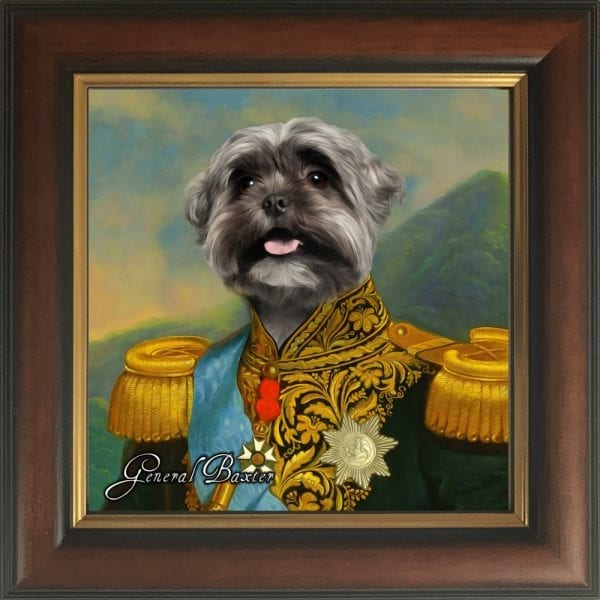 ⭐⭐⭐⭐⭐ 5 star review for dog paintings. Best selling dog paintings. This dog portrait comes with traditional gold and brown frame included. Ready for hanging or shelf display. USA, Canada and UK customers are goinf wild for these pet portraits.