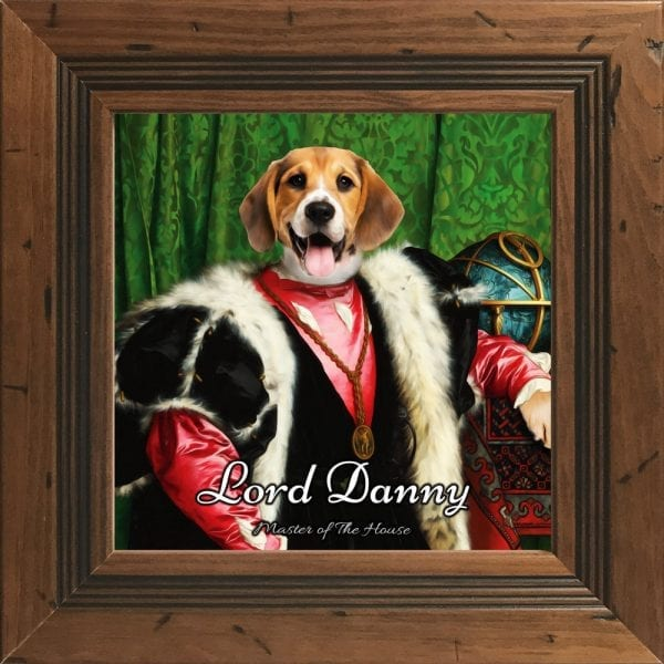 English pet portraits. Your English dog or cat portrait will be delivered very quickly. Designed online we deliver to all parts of the UK and Ireland. These are fun gifts that are sure to please any pet owner.