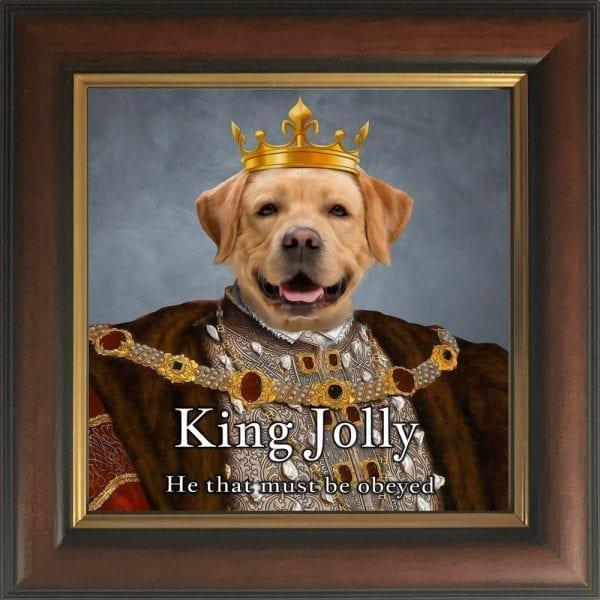 Dog King Portrait. Personalised pet portraits.
