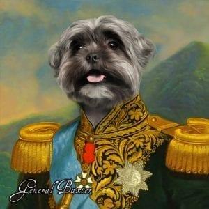 111 – General Baxter Framed Ceramic  Portrait