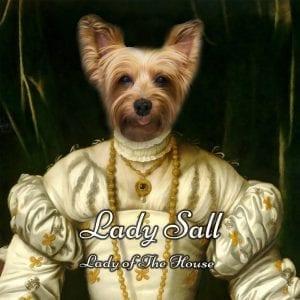 215 – Lady Sall Framed Ceramic  Portrait