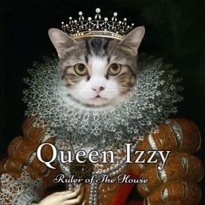 216 – Queen Izzy Framed Ceramic  Portrait