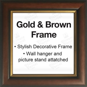 Brown and Gold Decorative Solid Frame