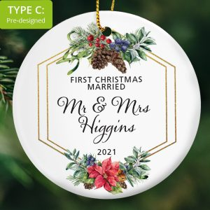 103 – Couple's First Christmas Married (Ceramic Ornament)