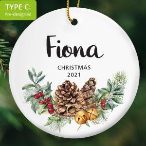 116 – Individual's Name Gift – Pine Cones (Ceramic Ornament)