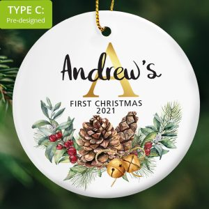 117 – Baby's First Christmas Gift (Ceramic Ornament)