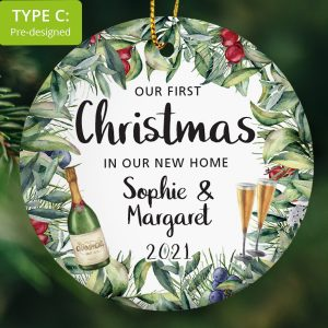 122 – Couple's First Christmas in New Home (Ceramic Ornament)